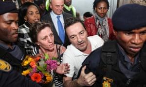 Debbie Calitz and Bruno Pelizzari in Johannesburg in June 2012