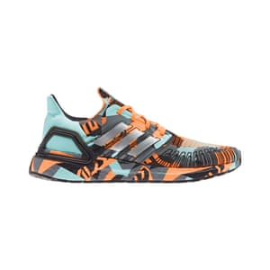 Partnering with Parley on a shared mission to use 100% recycled polyester by 2024, Adidas created Primeblue which is a high-performance yarn made with 50% ocean plastic intercepted from beaches and coastal communities. Camo ultraboost, £159.95, Adidas X Parley (adidas.co.uk)