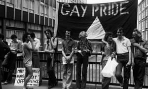 Gay Pride in July 1977: 10 years on from 1967 there were still key equality battles to be won