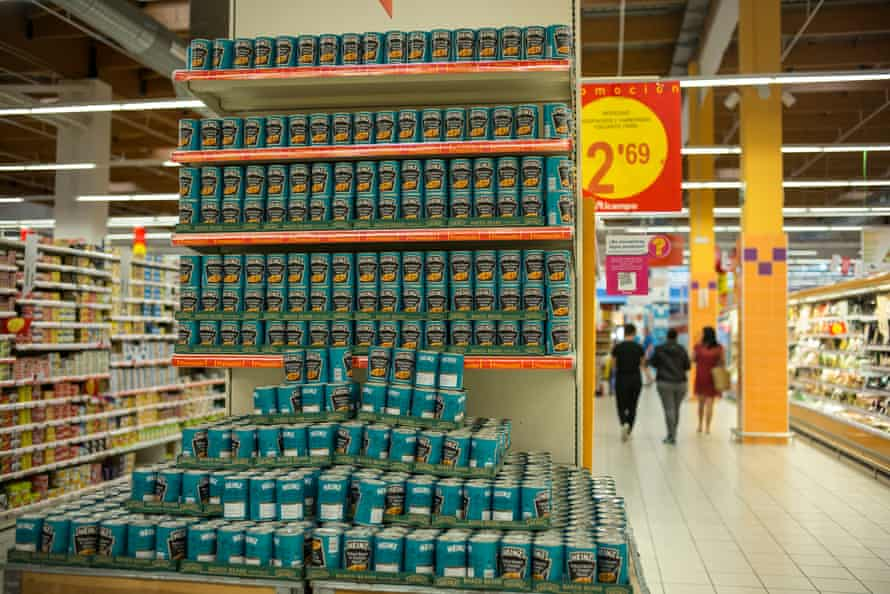 Almost everything is cheaper in Spain than in the UK – apart from a small premium on Heinz baked beans.