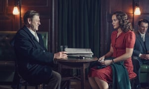 The pacifist and activist ... Sean Bean and Julia Brown in World on Fire.