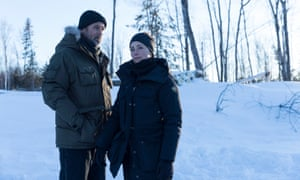 Billy Campbell and Karine Vanasse in Cardinal: Until the Night.