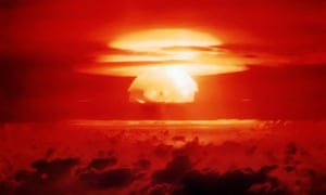 The first US test of a dry fuel hydrogen bomb, which took place on Bikini Atoll in 1954