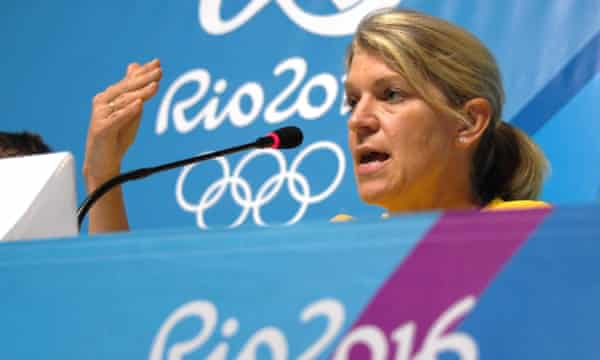 The Australian chef de mission, Kitty Chiller, speaks to the press on Monday after deciding not to move into the Olympic Village.