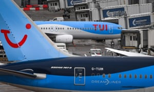 Aircraft operated by Tui at Manchester airport