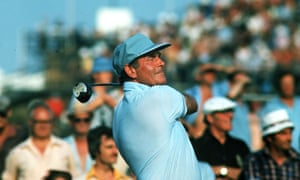 Christy O'Connor Sr competing in the 1970s. He was renowned for playing outrageous recovery shots, a product of practising from the most appalling lies in the rough.