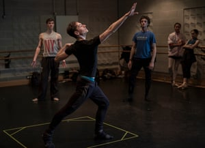Polunin working with the choreographer and Ilan the composer.