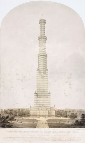 Design for converting the Crystal Palace into a tower