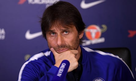 Antonio Conte believes it is tougher to manage a club like Chelsea who are expected to challenge for trophies