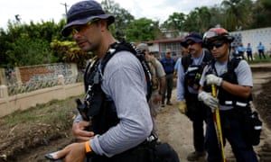 Members of Fema's Urban Search and Rescue team conduct a search operation in Yauco, Puerto Rico.