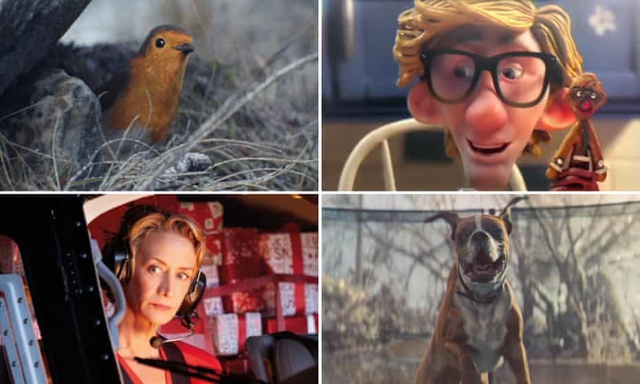 Christmas adverts from Waitrose, Sainsbury's, Marks and Spencer and John Lewis.