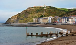 Constitution Hill and the bay at Aberystwyth.