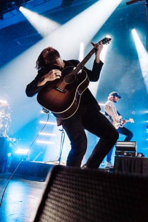 Australian band Gang of Youths play live at the Enmore theatre in Sydney, November 2018