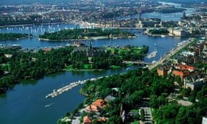 View of Stockholm in summer