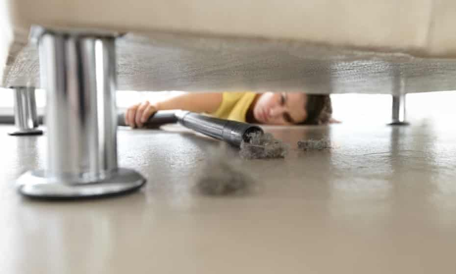 Pull out your sofa and vacuum behind it – and you'll probably find a massive layer of dust.