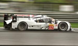 Mark Webber's Porsche during practice in Shanghai on Friday.
