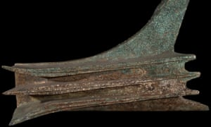 A bronze rostrum from a Roman warship