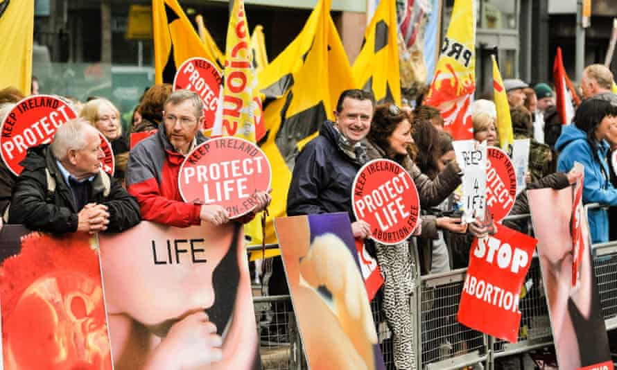 Anti-abortion protesters in Belfast