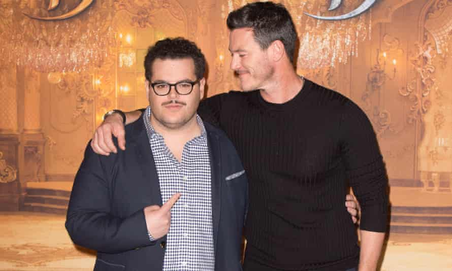 Josh Gad, left, with Luke Evans promoting Beauty and the Beast in Paris last month.