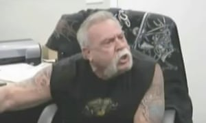 Paul Teutul Sr in one of the stills from reality TV show American Chopper which has become an internet meme