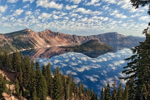 Oregon's Crater Lake National Park, one of five national parks created by president Theodore Roosevelt.