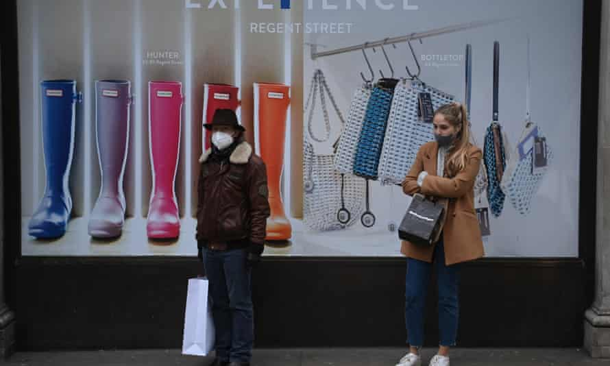 Shopping in times of the coronavirus pandemic in Britain