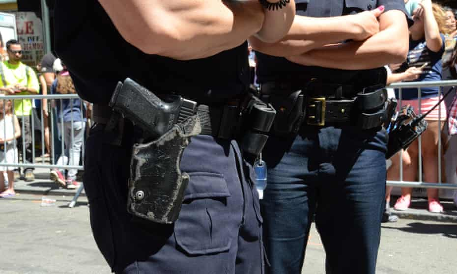 nypd officers gun