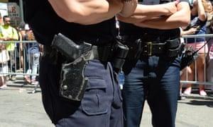 nypd cops guns and belts gun holster