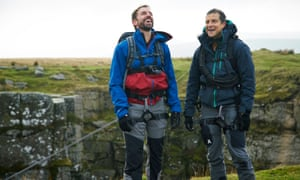 Gareth Southgate with Bear Grylls.