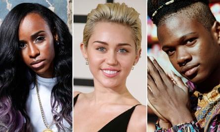 Angel Haze, Miley Cyrus and Shamir