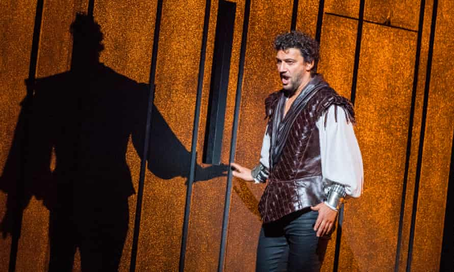 Putting his own stamp on the role ... Jonas Kaufmann as Otello in the Royal Opera House production, 2017.