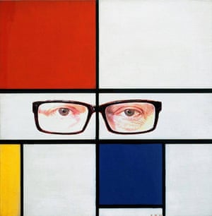 Composition II in Red, Blue, and Brandis (after Piet Mondrian)
