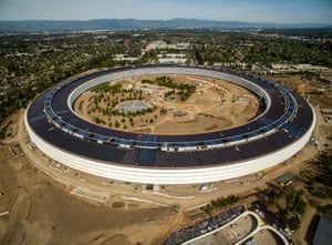 The completed Apple Park in Cupertino, California, which opened in April 2017