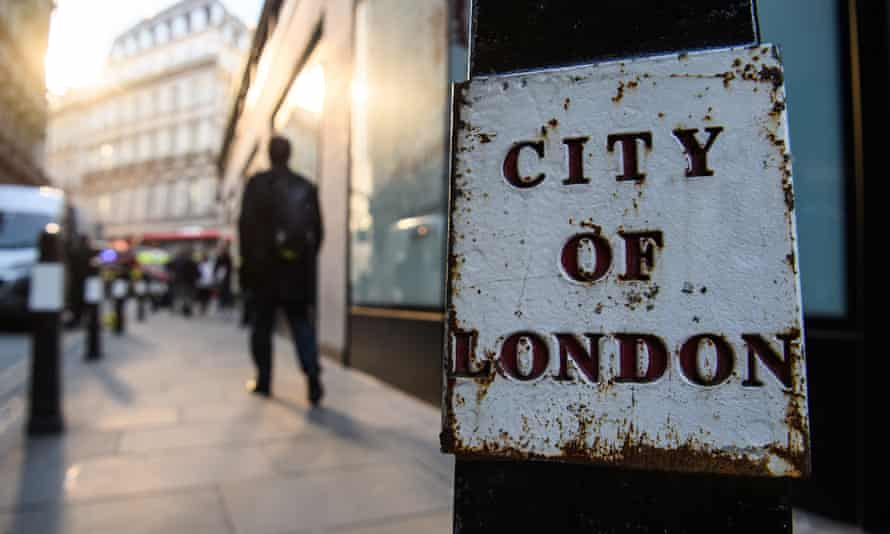 City of London sign on a London street