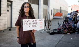 Valerie, a homeless woman on the streets of San Francisco. The measure is expected to raise hundreds of millions.