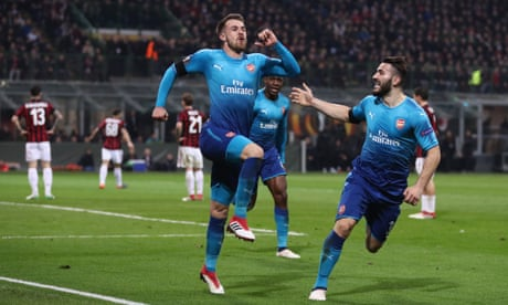 Arsenal cast off gloom with Europa League first leg romp against Milan