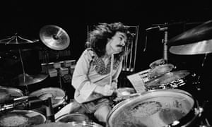 Neil Peart onstage in Birmingham, England, in February 1978.