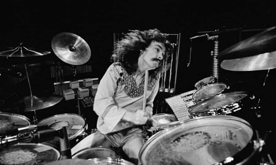 Neil Peart onstage in Birmingham, England, in February 1978.