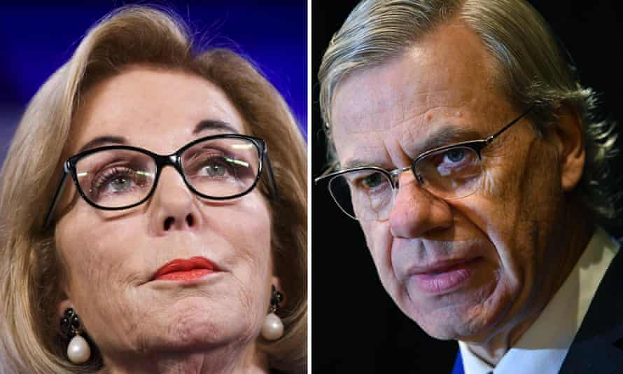 ABC chair Ita Buttrose (left) has been the subject of a vitriolic spray by Liberal powerbroker Michael Kroger (right) on Sky News Australia. He attacked her leadership and claimed ABC programs throw 'political acid' in the Liberal party's face.