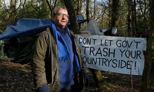 Martin Newman at the South Cubbington Wood protest camp.