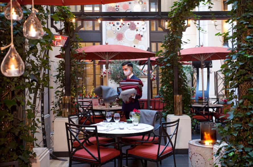 Open at last: The Garden at the Corinthia Hotel, London.
