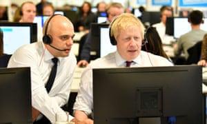 Chancellor Sajid Javid with PM Boris Johnson.