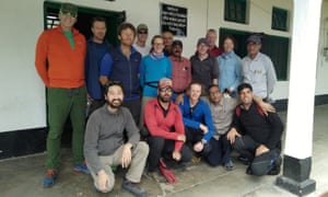 The group pose for a picture in Munsiyari before taking on the climb.