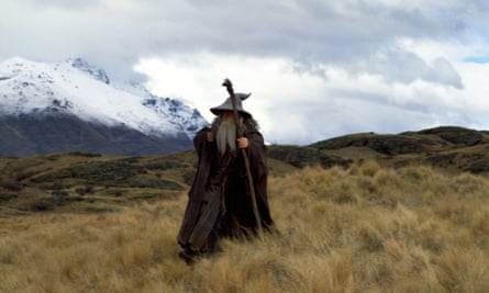 New Zealand as Middle-earth in The Lord of the Rings: Fellowship of the Ring.