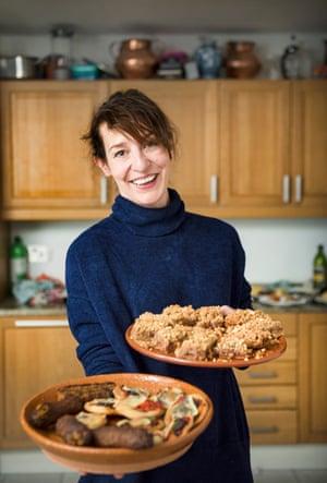 Zoe Williams with vegan meals