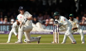 England's Dom Bess in action during the First Test against Pakistan