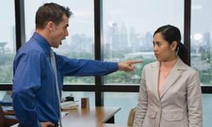 workplace diversity boss yelling woman
