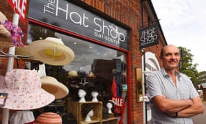 Dave Alexander, who has recently opened the Hat Shop at the Maltings in Salisbury