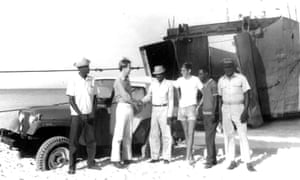 Grey Pierson visiting Tortuga in 1972
