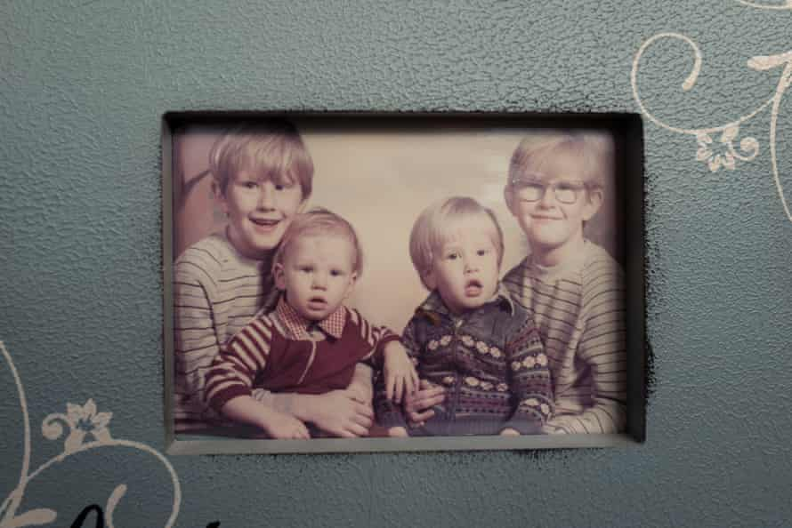 Colin Smith (second from left) with his three elder siblings.